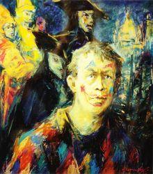Self-Portrait with Venitian Masks