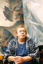 Chepik photographed by Marie-Aude Albert-Chepik in his Montmartre studio, December 2003
