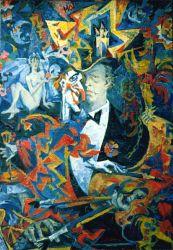 Self-Portrait dressed with Petrushka