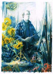 Self-Portrait with Sunflowers ten years after