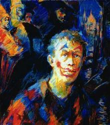 Self-Portrait with Venitians masks